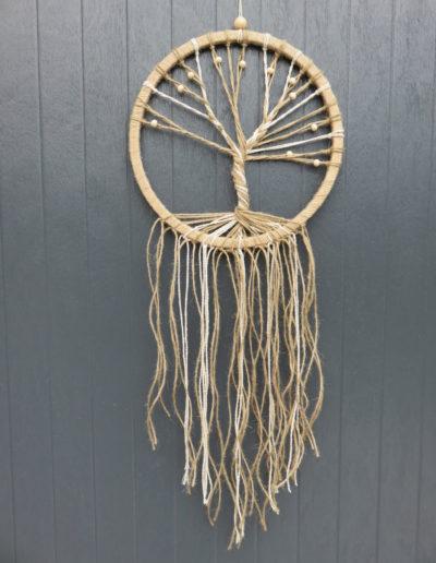 chinook spirit arbre de vie attrape reves lin jute ficelle cercle