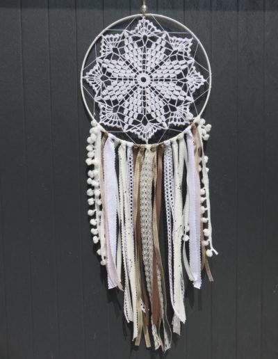 chinook spirit attrape reves napperon coton tricot beige blanc