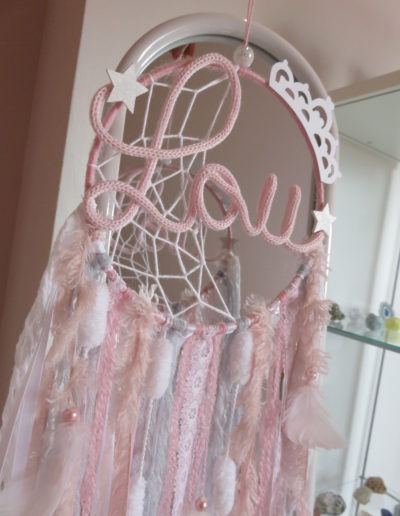 attrape reves personnalise rose girly fille chambre chinook spirit