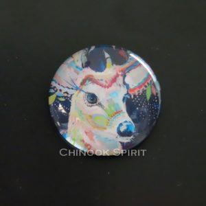 Aimant magnet biche fond sombre chinook spirit