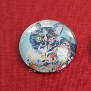 Aimant magnet chat noir chinook spirit