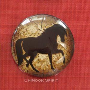 Aimant magnet cheval marron chinook spirit