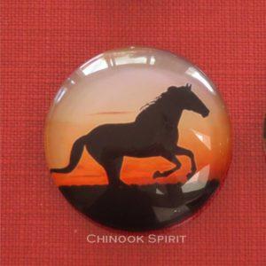 Aimant magnet cheval orange chinook spirit