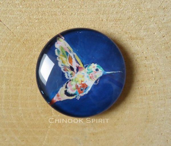 Aimant magnet colibri sur bois chinook spirit