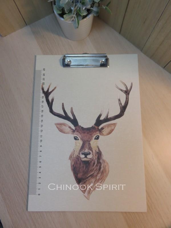 Porte documents bloc papier cerf renne amerindien chinook spirit