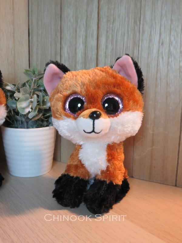 peluche ty fox renard gros yeux chinook spirit