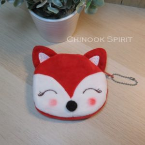 porte monnaie fox renard tete mignon orange chinook spirit