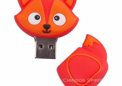 cle USB 32go fox renard orange Chinook spirit attrape reves