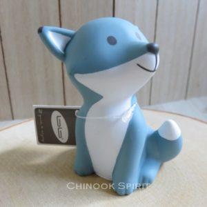 tirelire renard bleue enfant petite mignonne chinook spirit