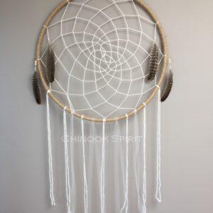 Attrape reves 73cm plumes aigle toile chinook spirit 5310