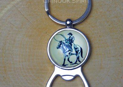 Porte cle decapsuleur cowboy chinook spirit 4410
