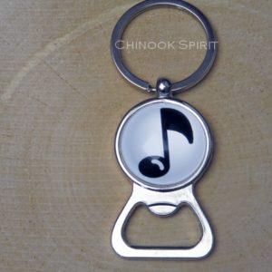 Porte cle decapsuleur note musique chinook spirit 4419