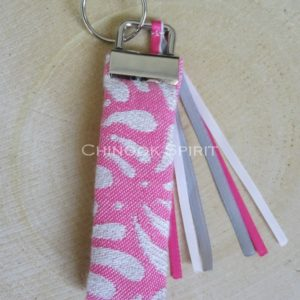 Porte cles tissu echarpe Lovaloom petalon Maharani Chinook spirit