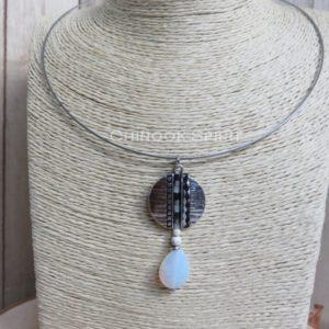 collier rond opaline perles indien chinook spirit