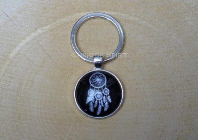 porte cles metal AR noir chinook spirit 4464