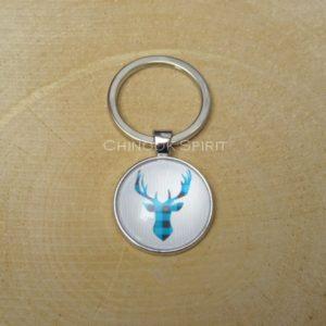 porte cles metal canada cerf bleu chinook spirit 4447