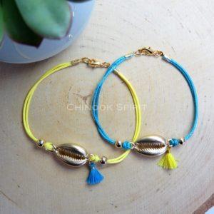 Bracelet CAURI coquillage Chinook spirit 5013