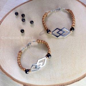 Bracelet Navajo macrame marron Chinook Spirit 4812