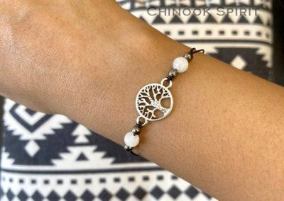 Bracelet arbre de vie pierre de lune chinook spirit 4010