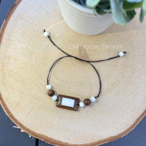 Bracelet bois nacre PUEBLOS Chinook Spirit 3990