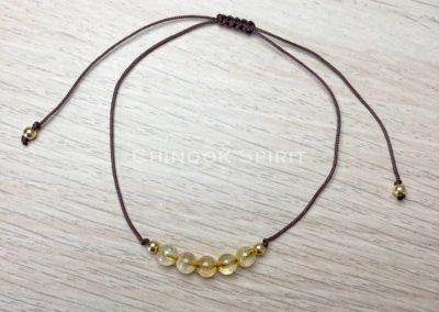 Bracelet pierres naturelles gemme citrine chinook spirit 4970