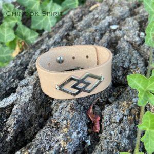 Manchette cuir Navajo acier 4113