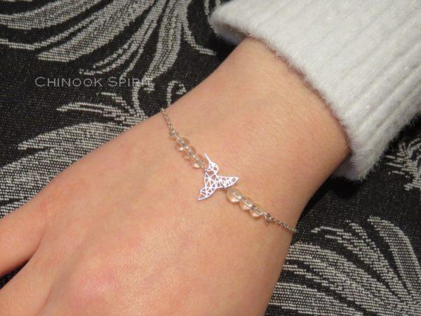 Bracelet Colibri cristal de roche Chinook Spirit 5423