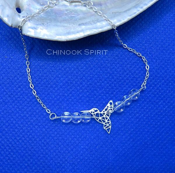 Bracelet Colibri cristal de roche Chinook Spirit 5636