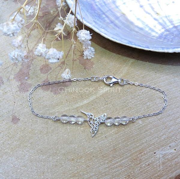 Bracelet Colibri cristal de roche Chinook Spirit 5651