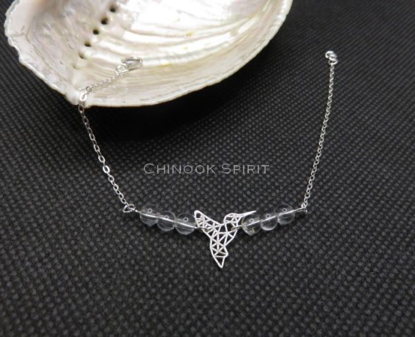 Bracelet colibri cristal de roche Chinook Spirit 5451
