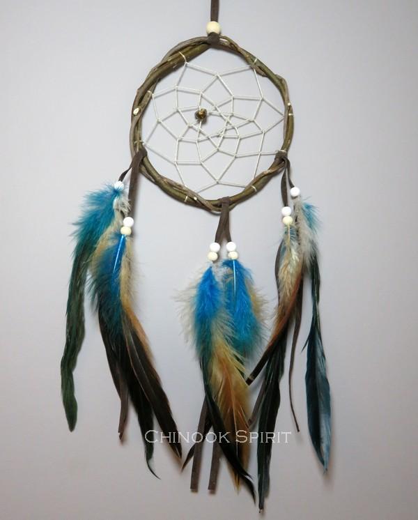 Attrape reves Natif bleu Turquoise Glace Chinook Spirit 5684