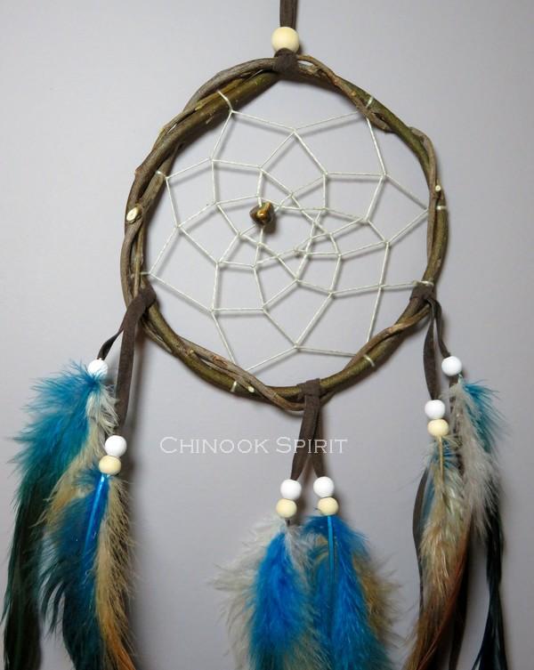 Attrape reves Natif bleu Turquoise Glace Chinook Spirit 5685