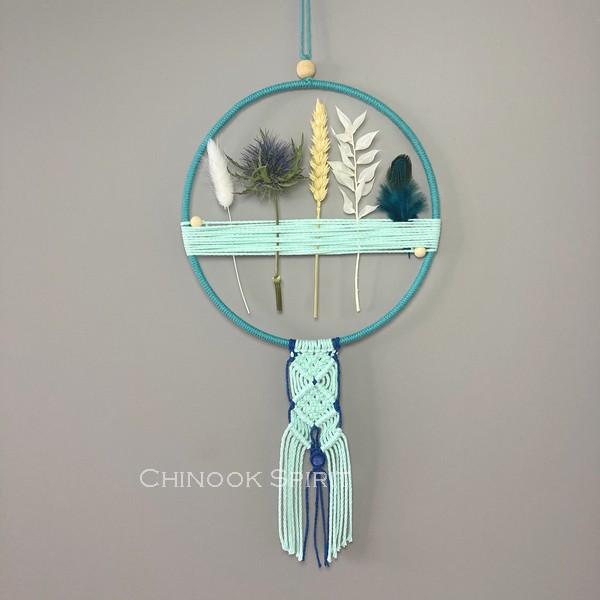 11 Attrape reves fleurs sechees macrame mint Chinook Spirit