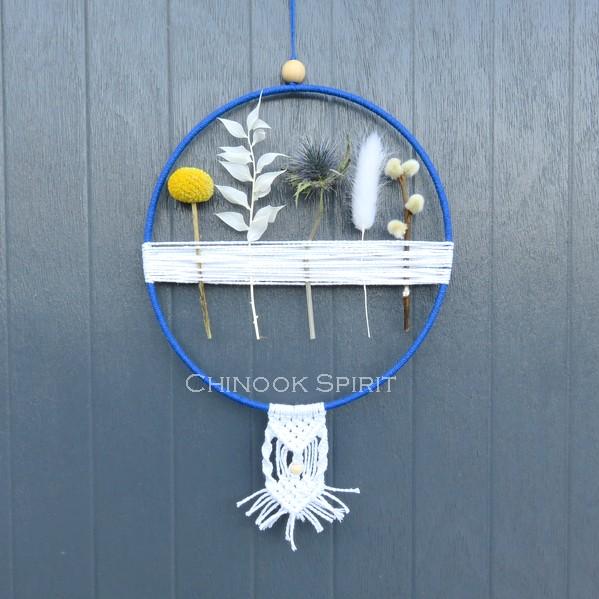 12 Attrape reves fleurs sechees macrame clair de lune 5767 Chinook Spirit