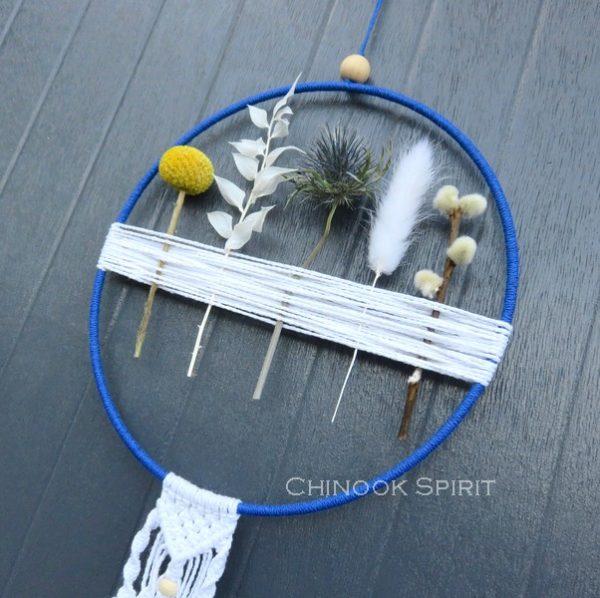 12 Attrape reves fleurs sechees macrame clair de lune 5770 Chinook Spirit