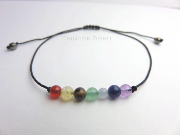 Bracelet 7 chakras pierres naturelles Chinook Spirit 5247