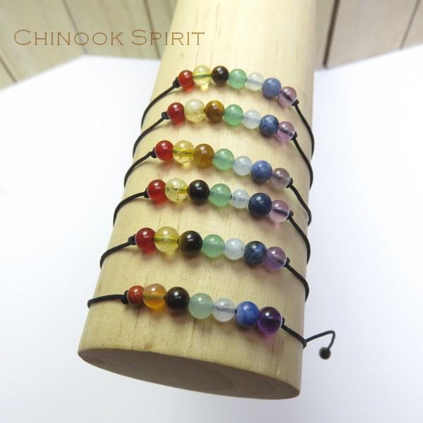 Bracelet 7 chakras pierres naturelles Chinook Spirit 5301
