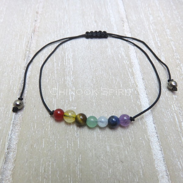 Bracelet 7 chakras pierres naturelles Chinook Spirit 5311
