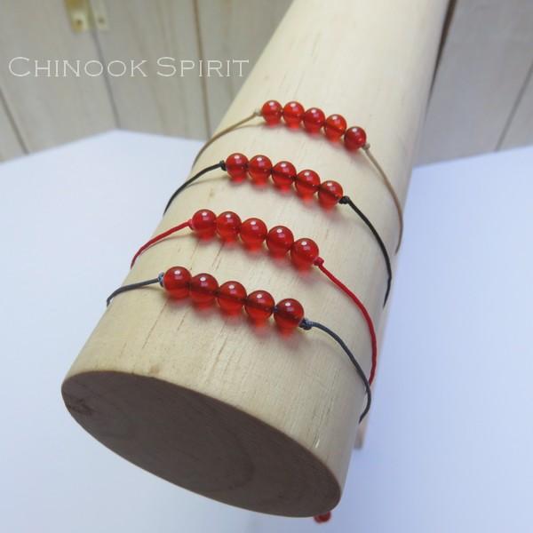 Bracelet Agate Rouge pierres naturelles Chinook Spirit 5287