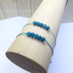 Bracelet Apatite pierres naturelles Chinook Spirit 5285