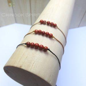 Bracelet Jaspe rouge pierres naturelles Chinook Spirit 5281