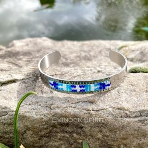 Bracelet Jonc inox perles miyuki modele 3 7594