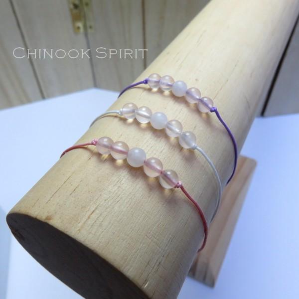Bracelet Quartz rose pierres naturelles Chinook Spirit 5283