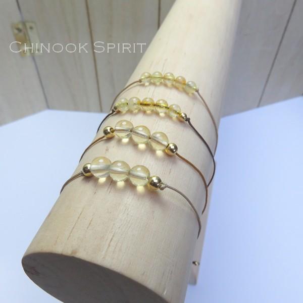 Bracelet citrine pierres naturelles Chinook Spirit 5279