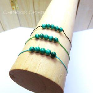 Bracelet malachite pierres naturelles Chinook Spirit 5288